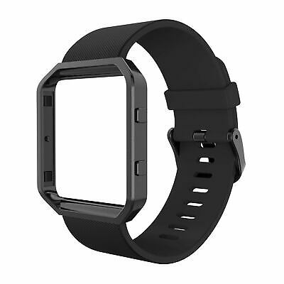 AU37.68 • Buy For Fitbit Blaze Bands Silicone Replacement Watch Band Strap Black Frame Smart..