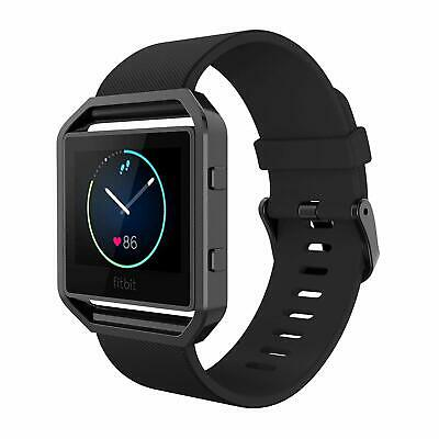 AU37.66 • Buy For Fitbit Blaze Bands Silicone Replacement Watch Band Strap With Black Frame AU