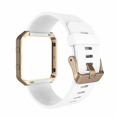 AU37.68 • Buy For Fitbit Blaze Band Silicone Replacement Strap W/ Rose Gold Frame Smart Watch