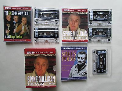 Spike Milligan The Collection Five Cassettes Audio Books, Tested, Bbc,excellent. • 24.95£