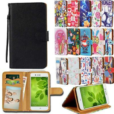 For Various Huawei P 8 9 10 20 Phones - Leather Smart Stand Wallet Cover Case • 3.99£