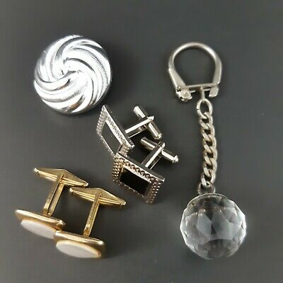 $ CDN15.97 • Buy Lot Of Vtg Jewelry Crystal Ball Key Fob Scarf Clip Cuff Links