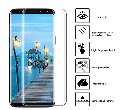 $ CDN6.33 • Buy Full Cover Tempered Glass Screen Protector For Samsung Galaxy S8 S7 S6 Edge Plus