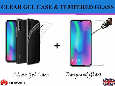 HUWAEI P40 P30 P20 P10 P SMART LITE HUAWEI Temper Glass Screen Protect Gel Case • 2.49£