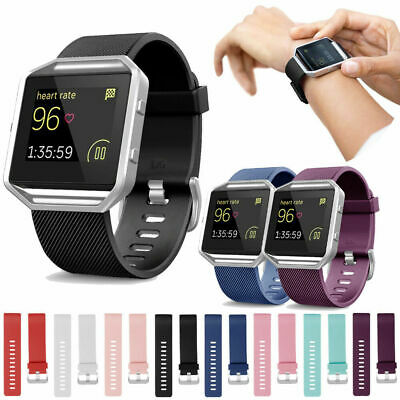 AU19.99 • Buy Silicone Wrist Band Strap Bracelet + Metal Frame Replacement For Fitbit Blaze AU