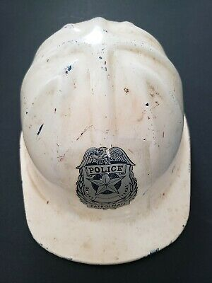 Vintage 1959 Dallas Texas Police Patrolman Aluminum McDonald TMSA Safety Helmet  • 65$