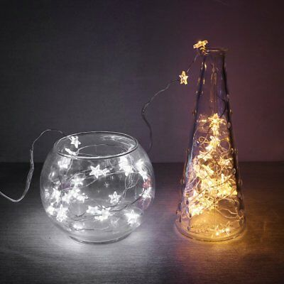 UK 10/20/30 LED Star String Fairy Lights Copper Wire Battery Operated Decor  • 2.99£