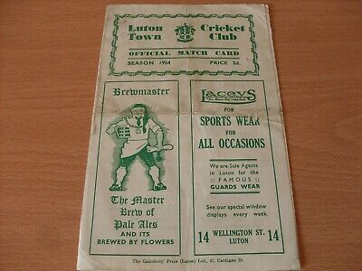 Luton Town CC V Cambridge University Score Card Dated 20-7-1954..  (532) • 5.99£