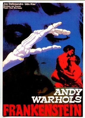 $15.60 • Buy Andy Warhol's Frankenstein Movie Poster Postcard 1990's-VF/NM