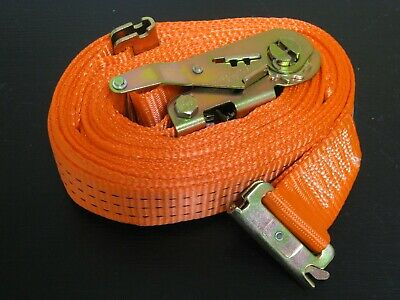 $24.95 • Buy 4 E Track Ratchet Straps Cargo Control Tie Down Ratchet Strap 16'+ 2  Orange