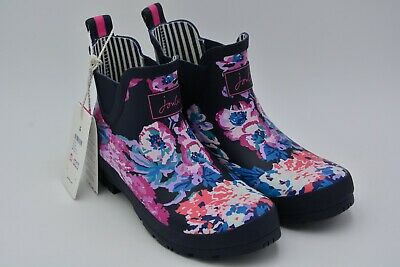 Joules Womens Wellibob Rain Boot Navy All Over Floral Size US 10 EU 42 • 30.95$