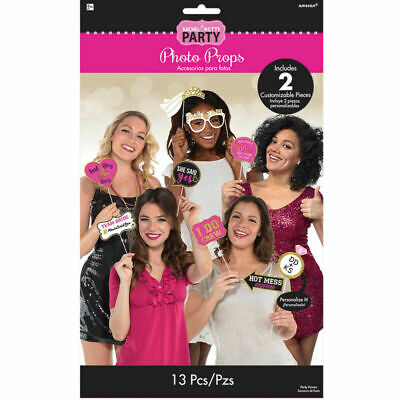 AU17.50 • Buy Photo Booth Props Wedding Engagement Hens Night Bachelorette Party Funny Signs