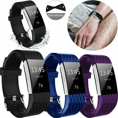 AU9.99 • Buy For Fitbit Charge 2 Strap Wrist Band Spare Wristband Replacement Soft Silicone