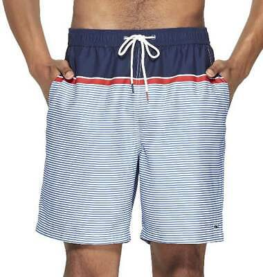 c681fd68fc Vineyard Vines For Target Men's Striped Swim Trunks Navy Red White XL ON  HAND • 39.95