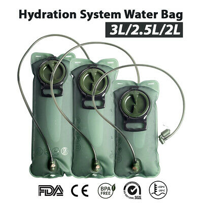 AU13.34 • Buy Hydration System Water Bladder Bag Camping Hiking Cycling Backpack 2/2.5/3L AU