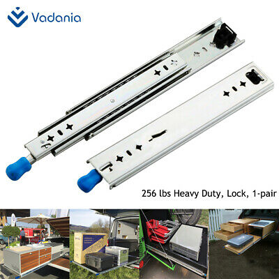 $58.90 • Buy Heavy Duty Drawer Slides With Lock 12 ~40  Full Extension 1 Pair VADANIA 256lb