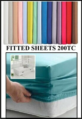 £7.99 • Buy COT BED / TRAVEL COT FITTED Sheet ( VARIOUS SIZES) OVER 20 COLOURS 260TC