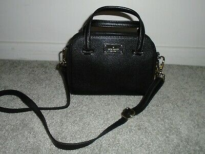 $ CDN73.72 • Buy Kate Spade Black Leather Cross Body Bag Satchel Handbag