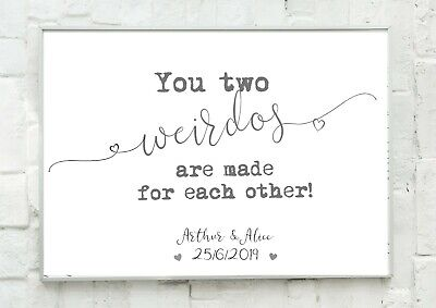 A4 Funny Personalised Engagement/wedding Gift Present- Unframed • 4.99£