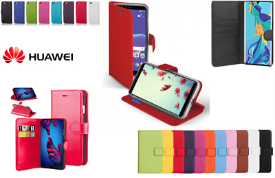 Leather Book Case Wallet Flip Phone Cover HUAWEI P30 P20 P10 MATE P SMART LITE • 3.49£