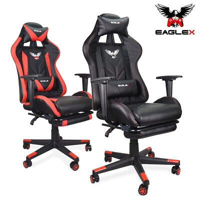 AU169 • Buy EagleX Gaming Race Chair - Racing Office Computer PU Leather Footrest Executive
