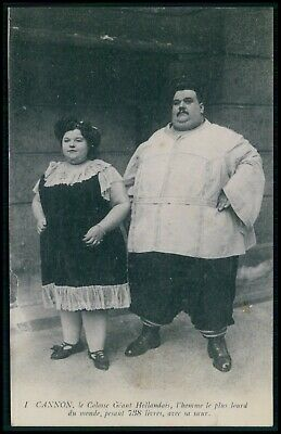 $ CDN15.87 • Buy Circus Freak Fat Man Cannon Giant Man & Brothers Original Old 1910s Postcard