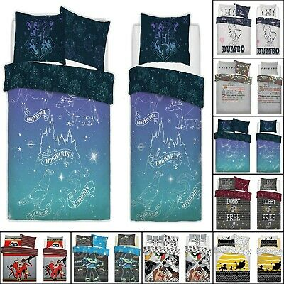 Luxury Disney Charaters Batman Harry Potter Duvet Covers Reversible Bedding Sets • 19.99£