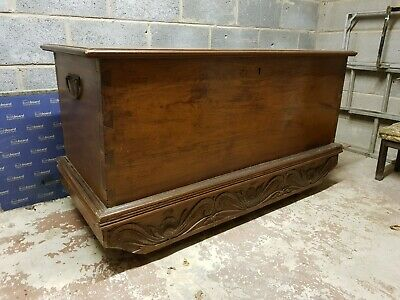 £275 • Buy Vintage Teak Indonesian Coffer Chest. All Panels Are Solid And Single-piece.