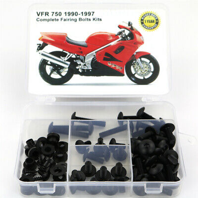 £21.57 • Buy Complete Fairing Cowling Bolts Fasteners Kit Fit For Honda VFR 750 90-1997 Black