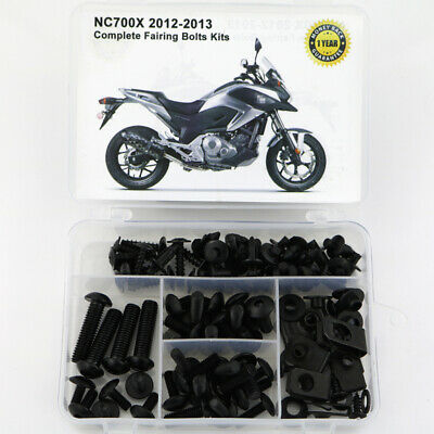 £21.57 • Buy Motor Complete Fairing Bolts Fasteners Kit Fit For Honda NC700X 2012 2013 Black