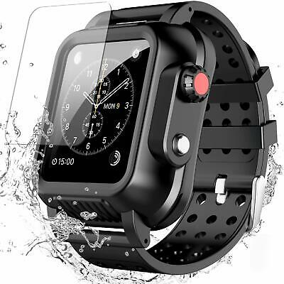 $17.09 • Buy For Apple IWatch 3 42mm Waterproof Armor Case Cover&Screen Protector Band Strap
