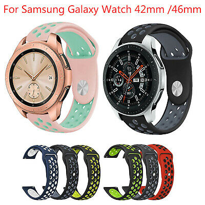 AU6.28 • Buy Dual Color Silicone Strap For Samsung Galaxy Watch 46/42mm Active 2 Gear S3 Band