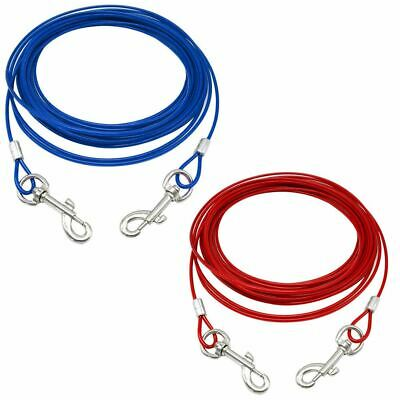 £7.19 • Buy Pet Dog Puppy Garden Camping Outdoor Tie Out Lead Leash Extension Wire Cable