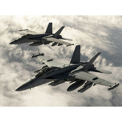 $17.38 • Buy Hook Military USA F-18 Hornet Jet Fighters Canvas Wall Art Print Poster