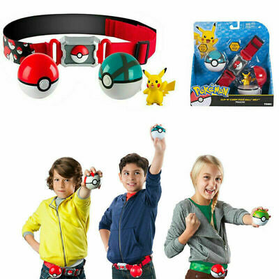 Pokemon Clip N GO Carry Poke Ball Toys Cross Belt Game Kids Gift Boys/Girls Toy • 14.99£