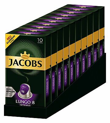 Jacobs Lungo Intenso 8 Nespresso Compatible Pods (10 X 10 Pods) • 20.99£