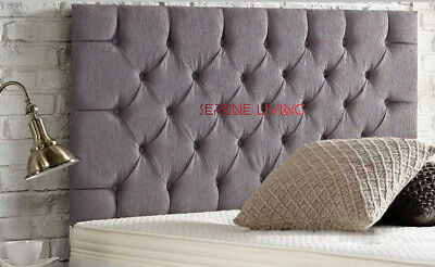Chesterfield Headboard Chenille 24  Bed Head - Small Double King Superking • 43.99£
