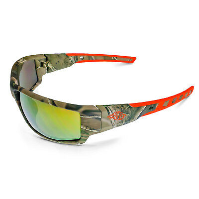 Crossfire 34257 KP6 Crystal Brown Frame Safety Sunglasses with Brown Flash Mirror Lenses