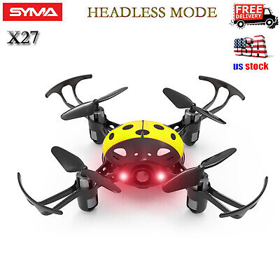 $18.98 • Buy Syma X27 2.4Ghz 4-Axis Mini RC Drone Kids Ladybug Quadcopter Headless Mode Red
