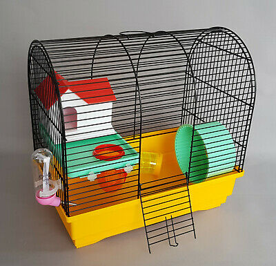 £20 • Buy Hamster Oval Cage With House Wheel Water Bottle Mice Mouse Pet Rodents Gerbil