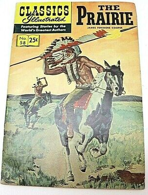$8.09 • Buy 1969 Classics Illustrated The Prairie By James Fenimore Cooper No 58 ItemZ9951