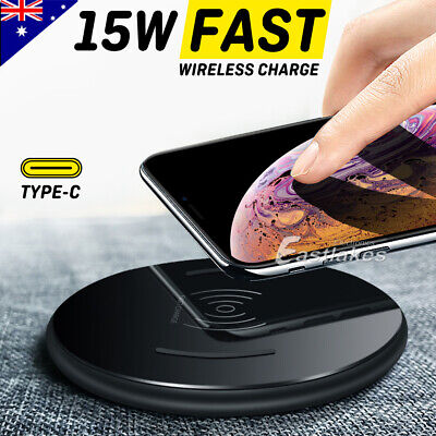 AU17.99 • Buy Qi Wireless Charger Pad Mat FAST CHARGE For Samsung S20 Ultra S10 + Note 10 5G