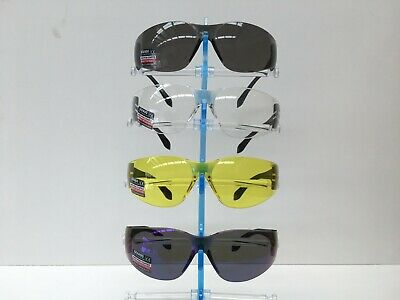 AU3.50 • Buy Wrap Style Safety Glasses 4 Different Lens Colours UV 400 AS/NZS Certified