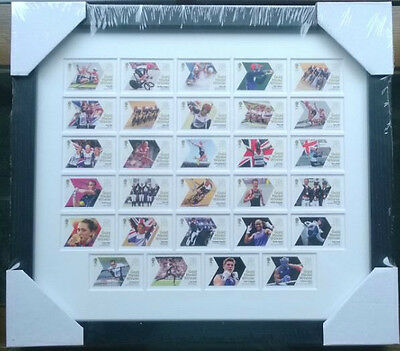 £129.99 • Buy London 2012 Olympic Games Team Gb 29 Royal Mail Gold Medal Winners Stamps Framed