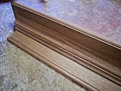 $202 • Buy Solid African Mahogany 54 Inch Hand Built Wall Shelf, Mantel, Stain Grade Wood