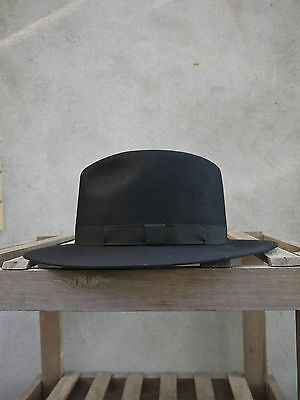 £90 • Buy Crushable Trilby Hat By Olney In Black - 100% Fur Felt, UK Made, S/M/L/XL