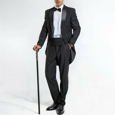 $ CDN151.91 • Buy Men's Tuxedo Bling Wedding Suit Jacket Formal Tail Coat Dress Club Jacket Blazer