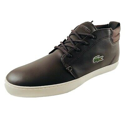 8ddbd569d8f7 Baskets Lacoste Homme Ampthill Terra Brown Leather - Chaussures Lacoste  Homme • 59.99€