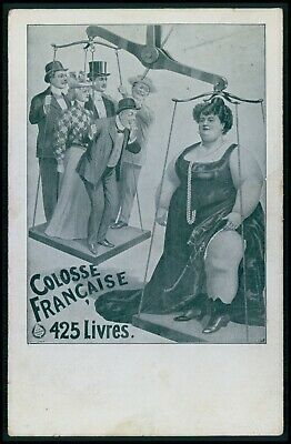 $ CDN33.06 • Buy Circus Freak Giant Fat French Woman Original Old 1910s Poster Type Postcard