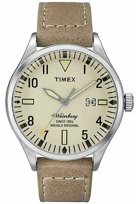 $69.97 • Buy Timex TW2P83900 Waterbury Men's Analog Watch Beige Leather Strap